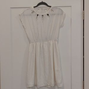 annabella white dress with cutouts